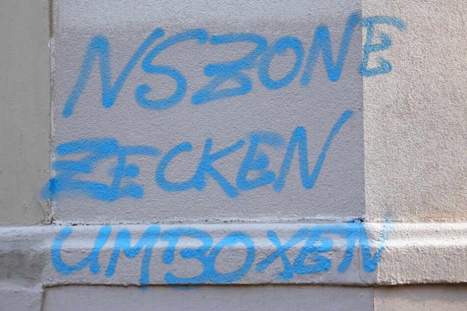 Verschiedene Schriftzüge wurden in der Nacht in Sonnenberg entdeckt.
