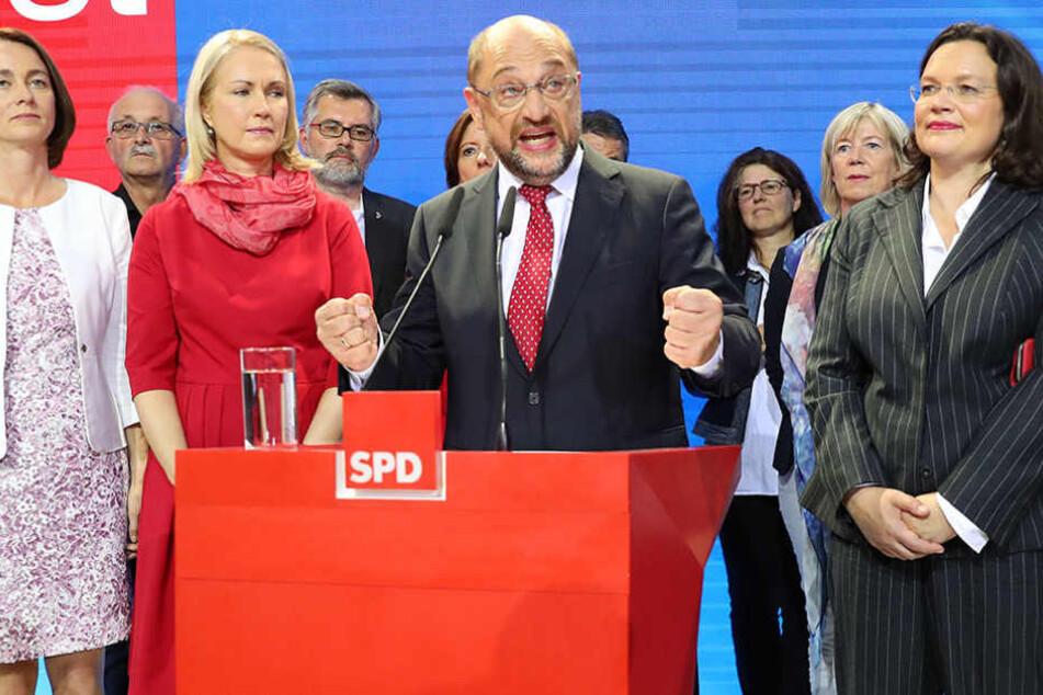 Auch in Berlin müsste die SPD Stimmen einbüßen und landete auf dem dritten Platz.