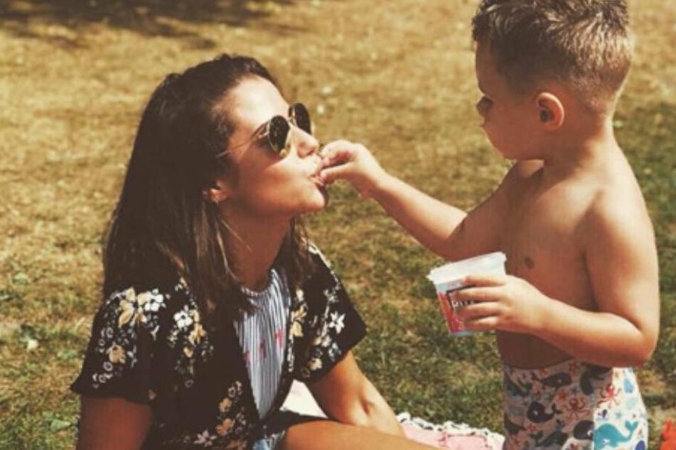 Beste Mama: Sarah Lombardi und Söhnchen Alessio, der am 19. Juni vier Jahre alt wird.