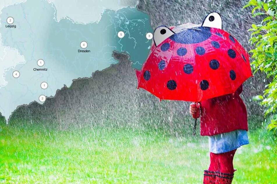 Gewitter und Starkregen! So ungemütlich wird das Wochenende