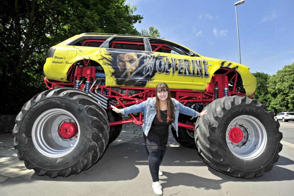 """Monstertruck mit 550 PS: Bei """"Dynamit auf Rädern"""" gibt's gleich mehrere davon."""