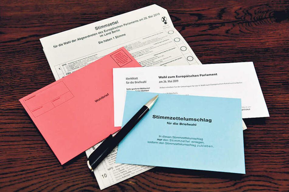 Der blaue Stimmzettel-Umschlag für die Briefwahl zum Europaparlament fehlte.