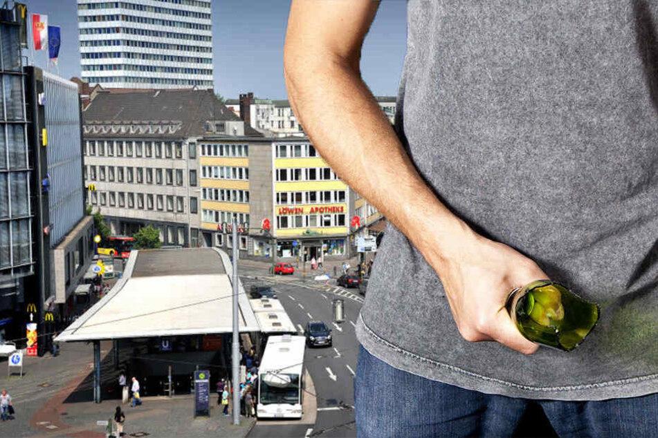 Auf dem Jahnplatz wurde ein Mann mit einer abgebrochenen Flasche attackiert. (Symbolbild)