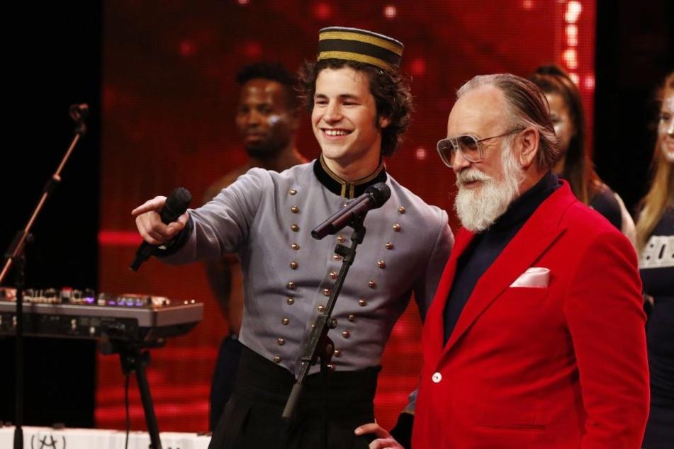 """Liam Mockridge und Werbe-Ikone Friedrich Liechtenstein (""""Supergeil"""") wollen mit ihrem gemeinsamen Song begeistern."""