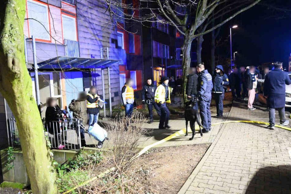 Die Bewohner wurden evakuiert.