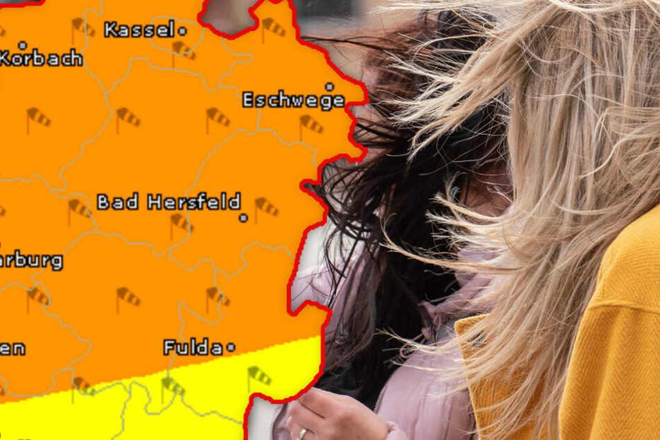 Böen bis zu 100 km/h: Heute hat der Sturm Hessen wieder fest im Griff
