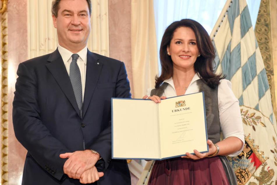 Michaela Kaniber (r.) ist ein Teil der neuen bayerischen Staatsregierung. (Archivbild)
