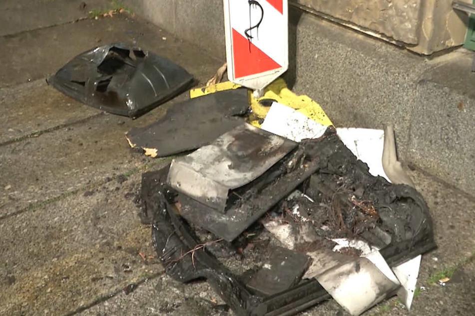 Diesen alten Röhrenfernseher machte die Feuerwehr als Übeltäter für den Brand verantwortlich.