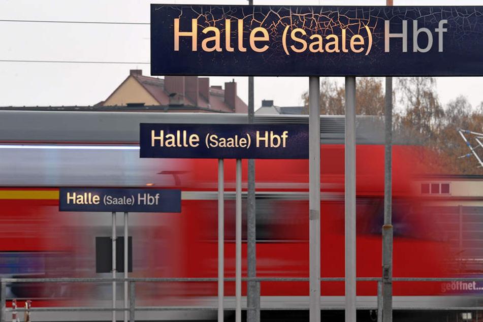 Nach acht Tagen fahren in Halle (Saale) endlich wieder Züge.