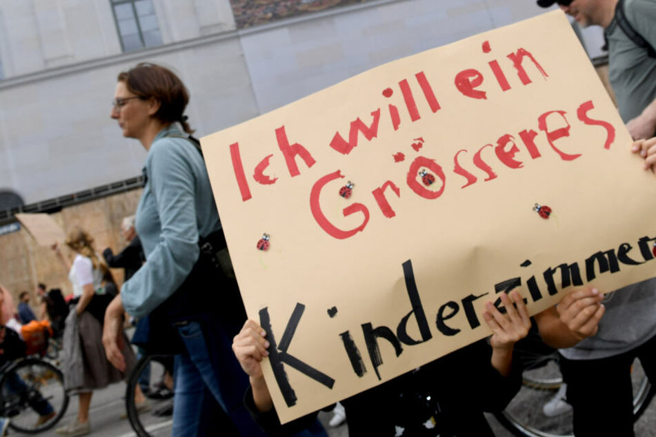 Groß und Klein gingen in München gemeinsam auf die Straße um zu demonstrieren.