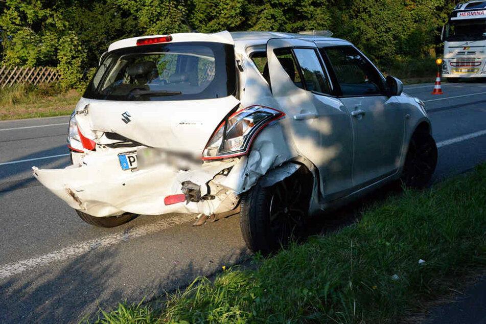 Der Suzuki konnte nach dem Unfall nicht mehr weiterfahren.