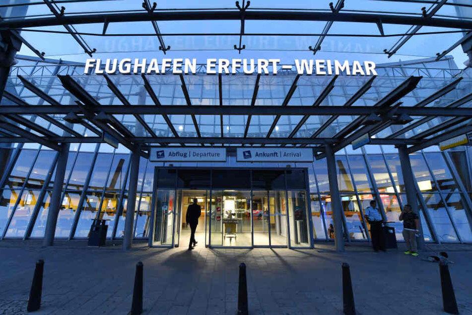 Am Flughafen Erfurt-Weimar kam es zu den Zwischenfall.