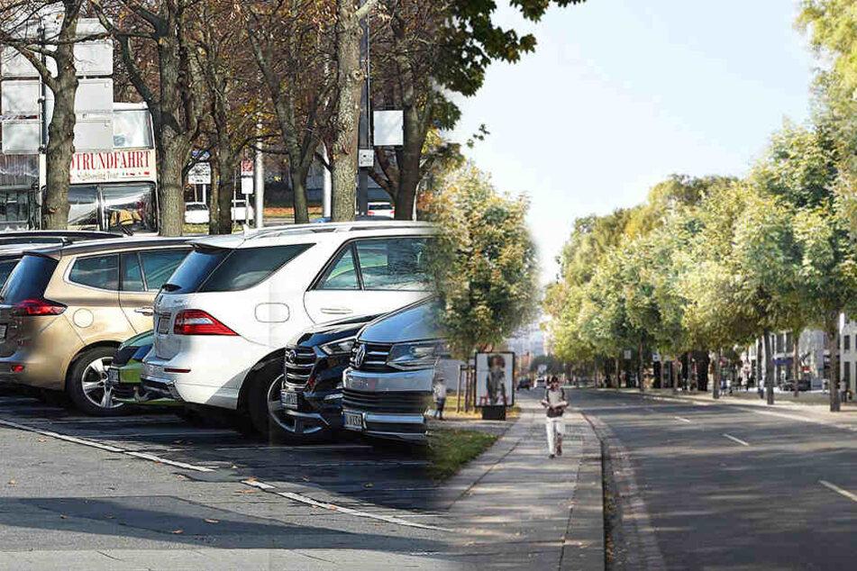 Dresden: Weil 72 Parkplätze weg sollten: Dresdens Promenadenring vorerst gestoppt