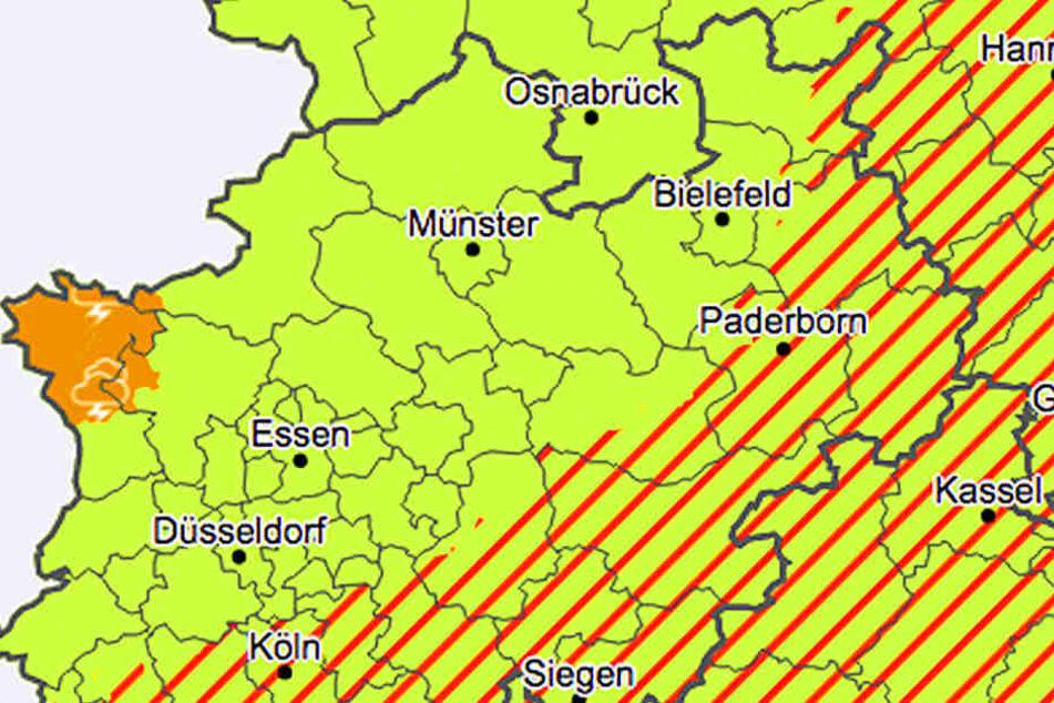 Hagel und Böen: Wetterdienst warnt vor Gewittern in Karlsruhe