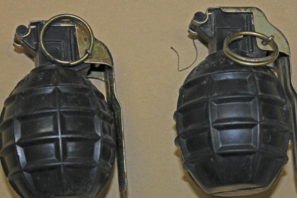 Schüler findet scharfe Handgranate, Experten konnten die gefährliche Kriegswaffe entschärfen. (Symbolbild)