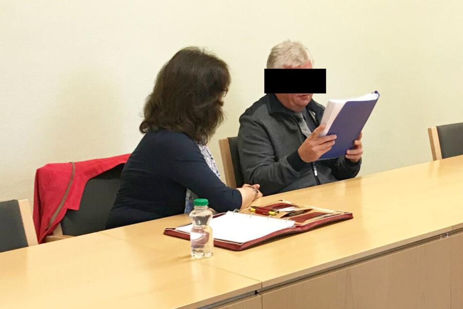 Einer der Täter soll Lubos E. (46) aus Tschechien sein. Hier bei seiner Verhandlung am Cottbuser Landgericht.