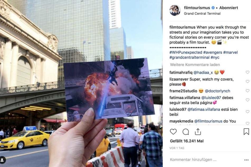 Hier ist Bloggerin Andrea David ganz zufällig auf einen Drehort in New York, USA gestoßen. Gezeigt wird eine Szene aus dem Erfolgsfilm: Marvel's The Avengers.