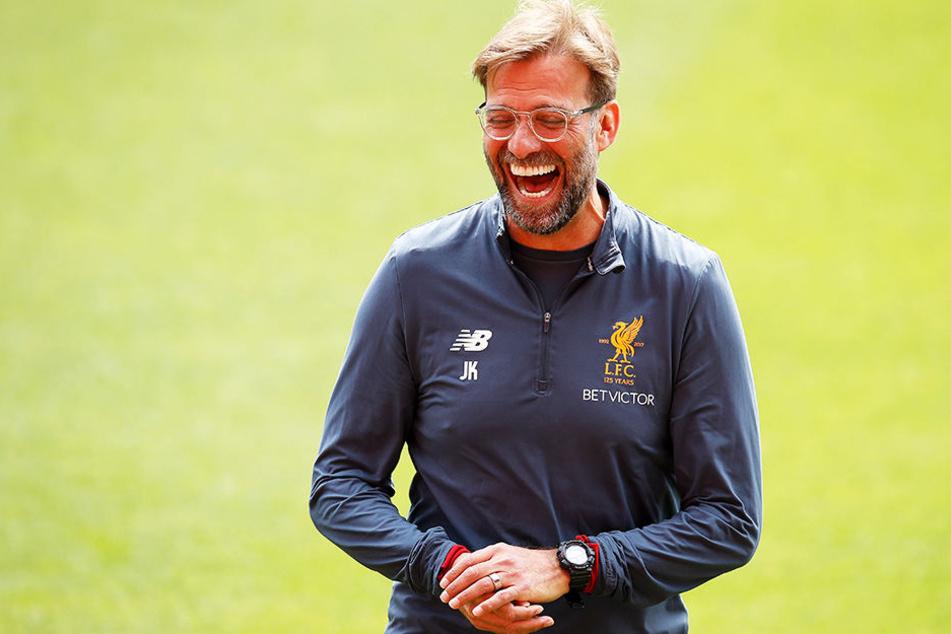 Versprüht trotz der Probleme gute Laune vor dem Champions-League-Finale: Liverpool-Trainer Jürgen Klopp.