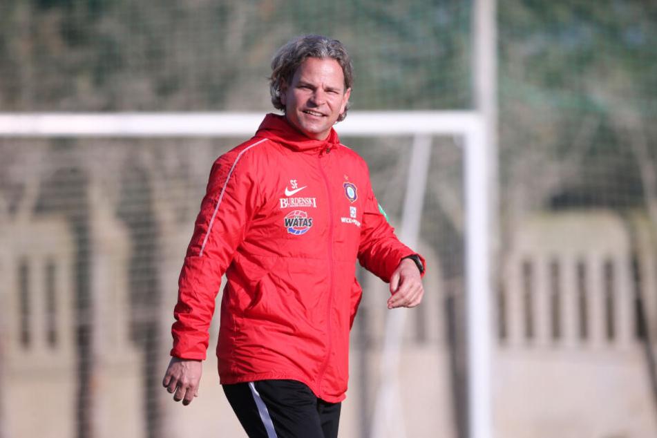 Aue-Co-Trainer Sascha Franz schaute sich viel von seinem Vater ab.