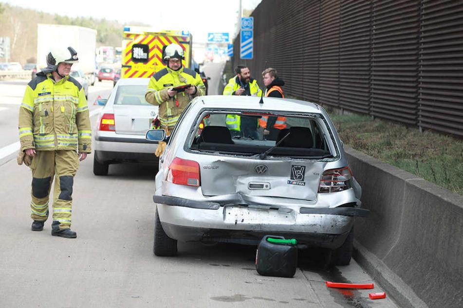 Auf der A4 kam es zu einem Verkehrsunfall.