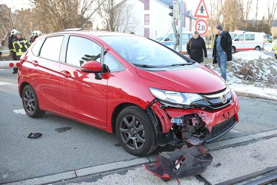 Der Honda wurde leicht beschädigt.