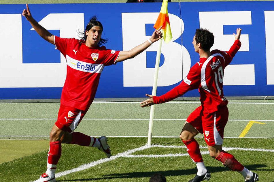 Ein Tor für die Ewigkeit: Sami Khedira (l.) köpft den VfB Stuttgart 2007 zur Deutschen Meisterschaft.
