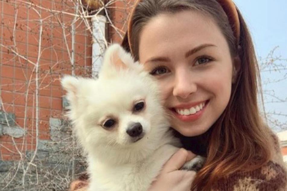 Anastasiya Zinchenko und ihr süßes Hündchen.