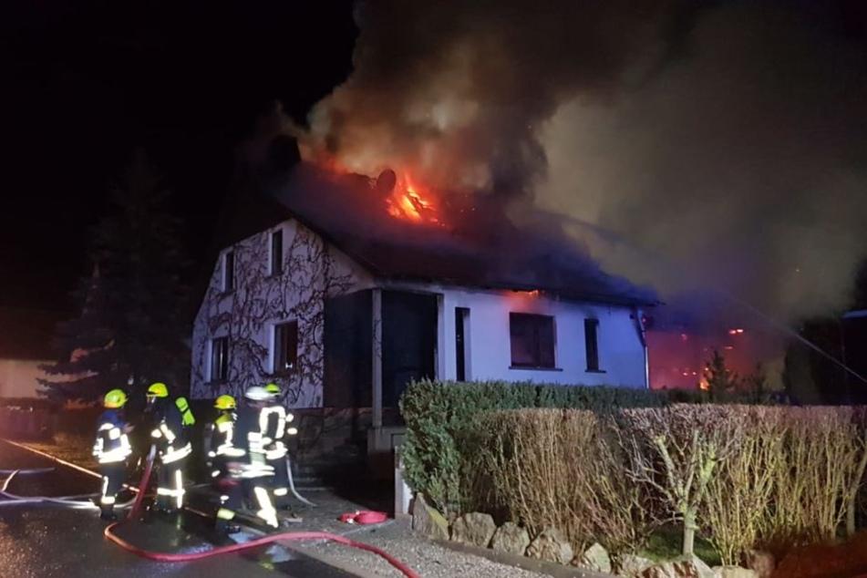 Explosion in der Silvesternacht? Einfamilienhaus nicht mehr zu retten