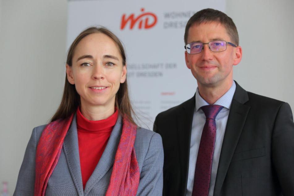 Sozialbürgermeisterin Kristin Kaufmann (43, Linke) und WiD-Chef Steffen Jäckel (49).