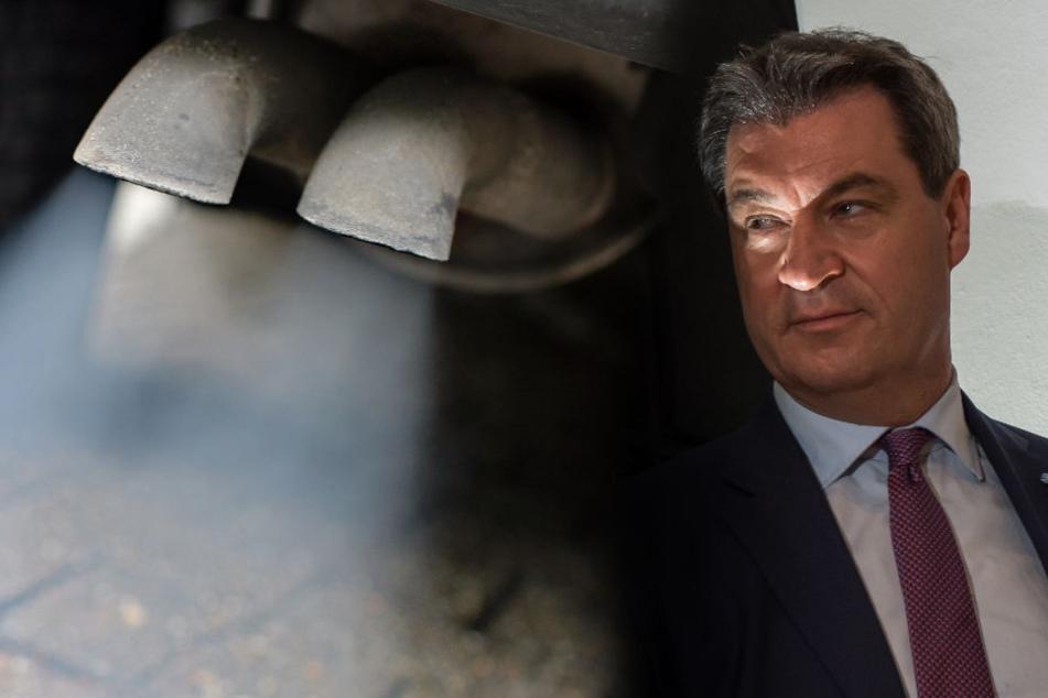Bayerns Ministerpräsident Markus Söder (CSU) war in Sachen Abgase untätig - Jetzt könnte ihm Beugehaft drohen.