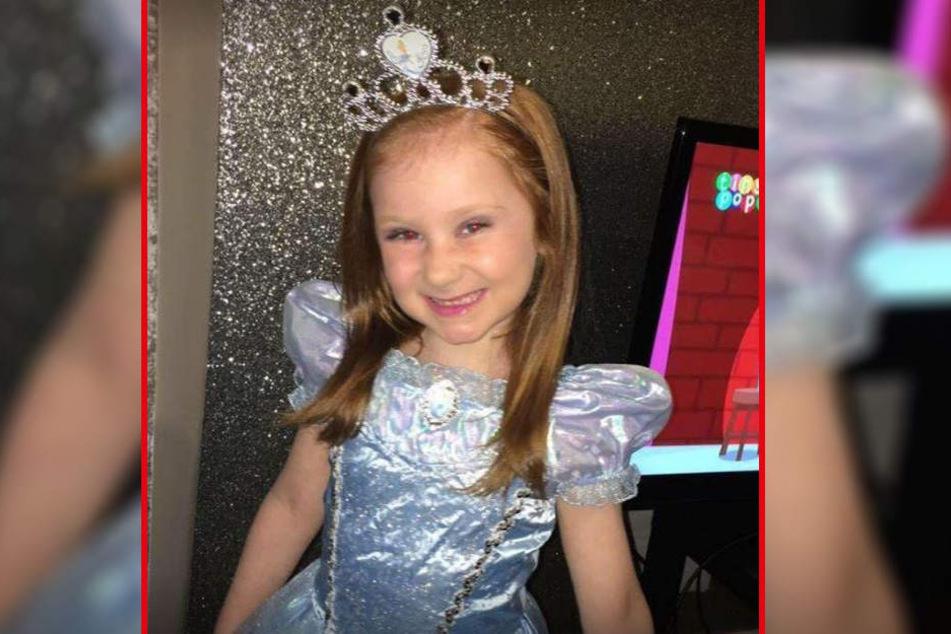 Megan Evans (7) musste ein Hirntumor entfernt werden.