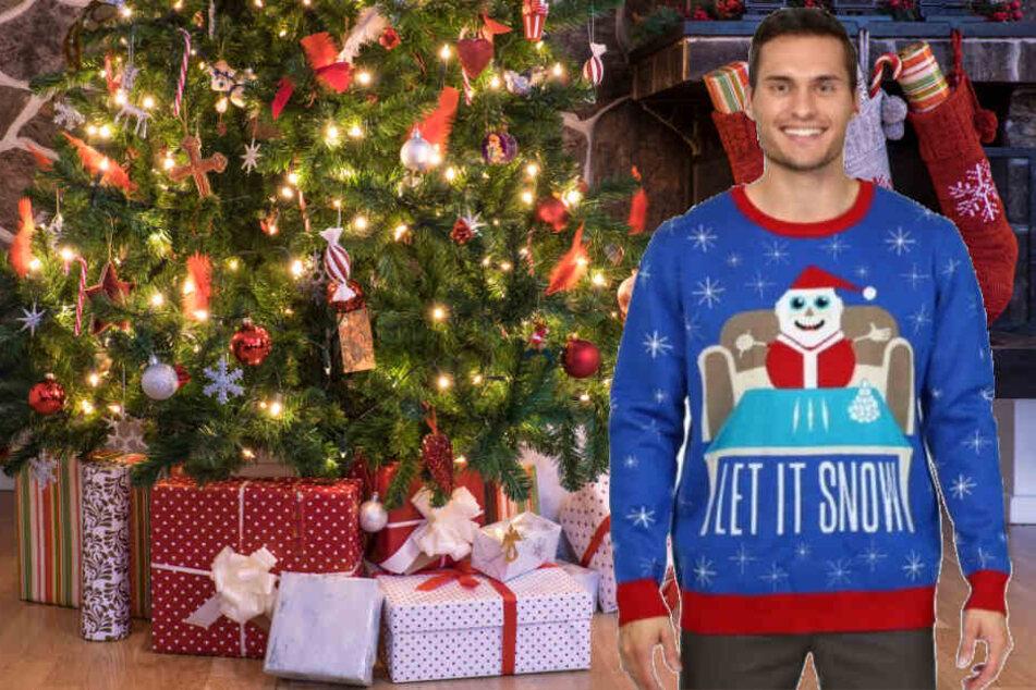 Dieser Pullover mit einem koksenden Weihnachtsmann wurde bei Walmart verkauft.
