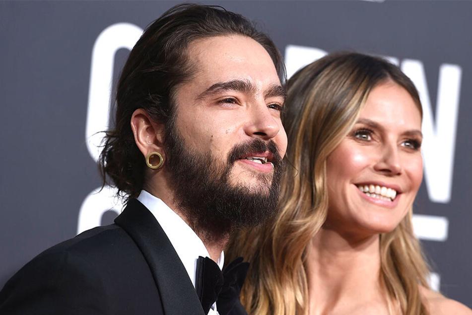 Tom Kaulitz und Heidi Klum gemeinsam bei der Globe Verleihung.