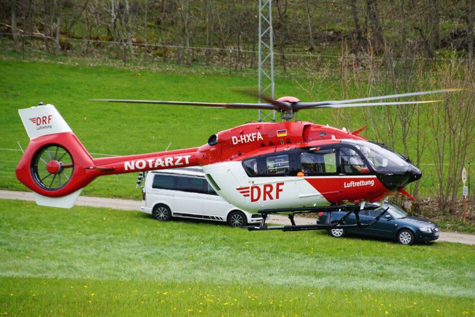 Der verunglückte Kletterer kam per Hubschrauber ins Krankenhaus.