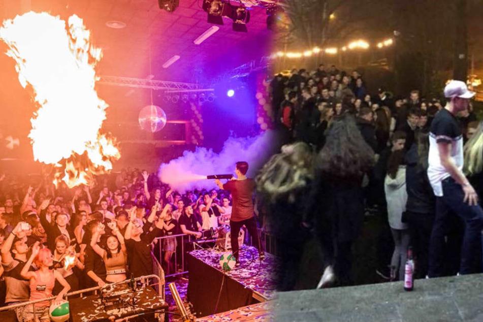 """Im Eingangsbereich der Disko """"Schorre"""" in Halle (Saale) kam es am Freitagabend zu einer Reizgas-Attacke."""