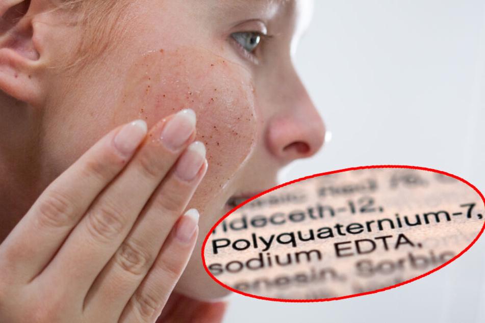 Polyquaternium-7 (PQ) ist die chemische Bezeichnung einer der Stoffe, die sich beispielsweise in Peelings befinden können. (Bildmontage)