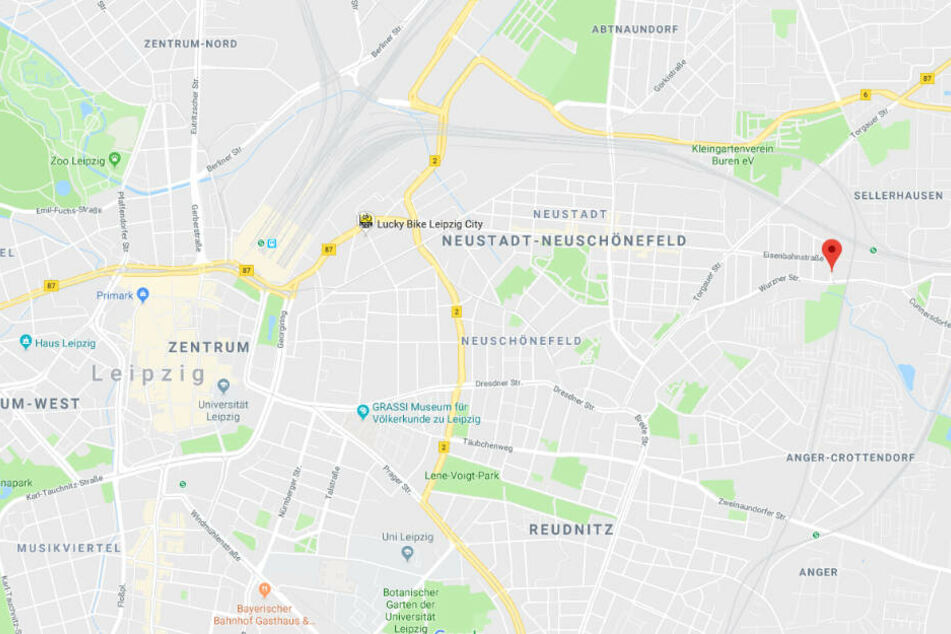In der Annenstraße im Osten von Leipzig wurde eine Frau (31) überfallen.
