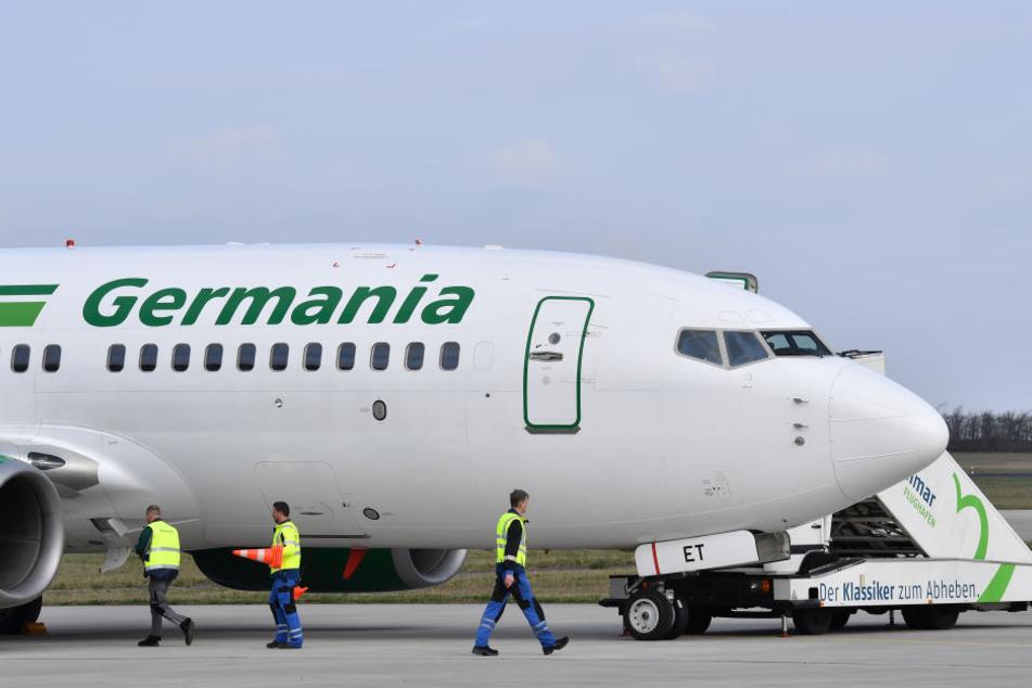 Die Germania-Maschine sollte in Erfurt landen. (Archivbild)