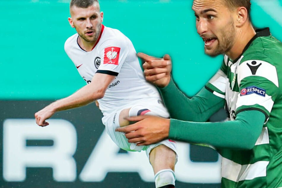 Fotomontage: Eintrachts Ante Rebic (Li.) und der potentielle SGE-Neuzugang Bas Dost.