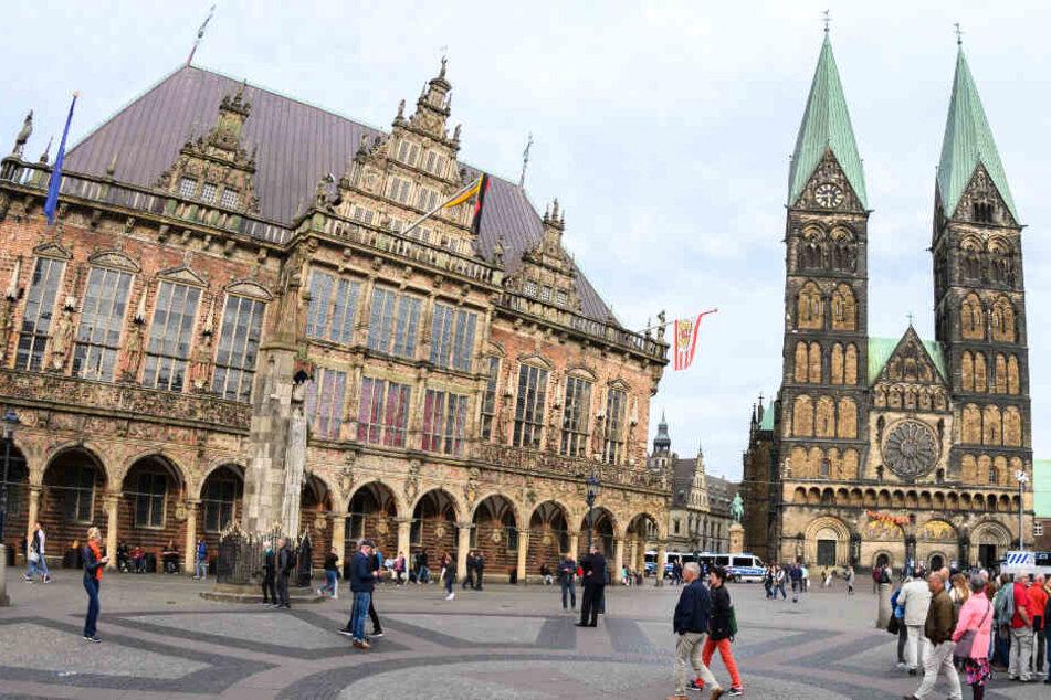 Blick auf das Alte Rathaus in Bremen.