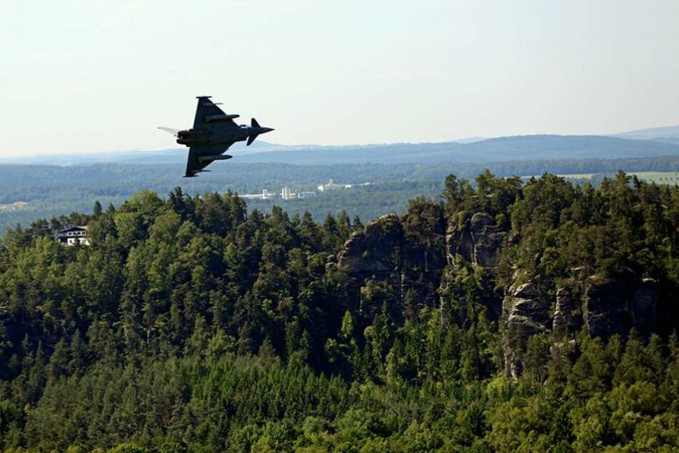 Seit 2014 gibt es immer mehr Militärflüge in der Sächsischen Schweiz.