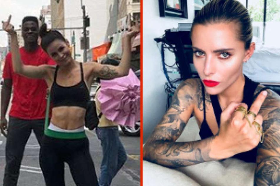 Wer hat den Längsten: Liefern sich Lena und Sophia ein Stinkefinger-Battle bei Instagram?