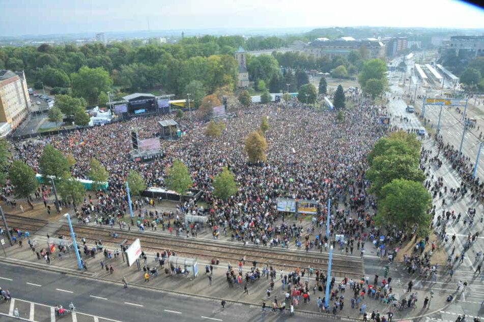 Im September waren 65.0000 Menschen beim #wirsindmehr-Konzert.