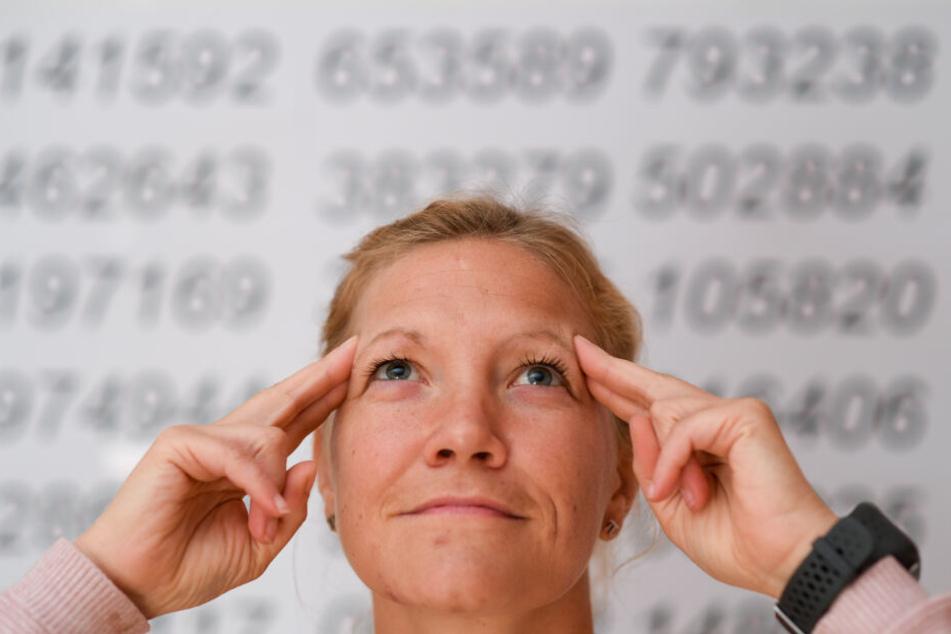 Die Polizeioberkommissarin kann Tausende Nachkommastellen der Kreiszahl Pi memorieren.