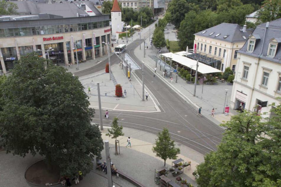 In Plauen auf dem Postplatz gab es am Mittwoch eine heftige Schlägerei. (Archivbild)