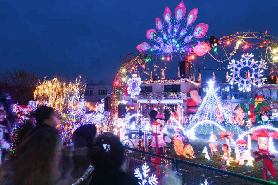 """Früher waren es bis zu 60.000 Lichter, dieses Jahr """"etwas weniger als sonst"""", so Thomas Bittelmayer."""