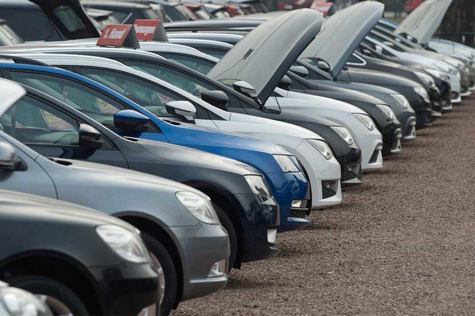 Auf dem Hof der Autohändler stehen Wagen mit Dieselmotoren besonders lange.