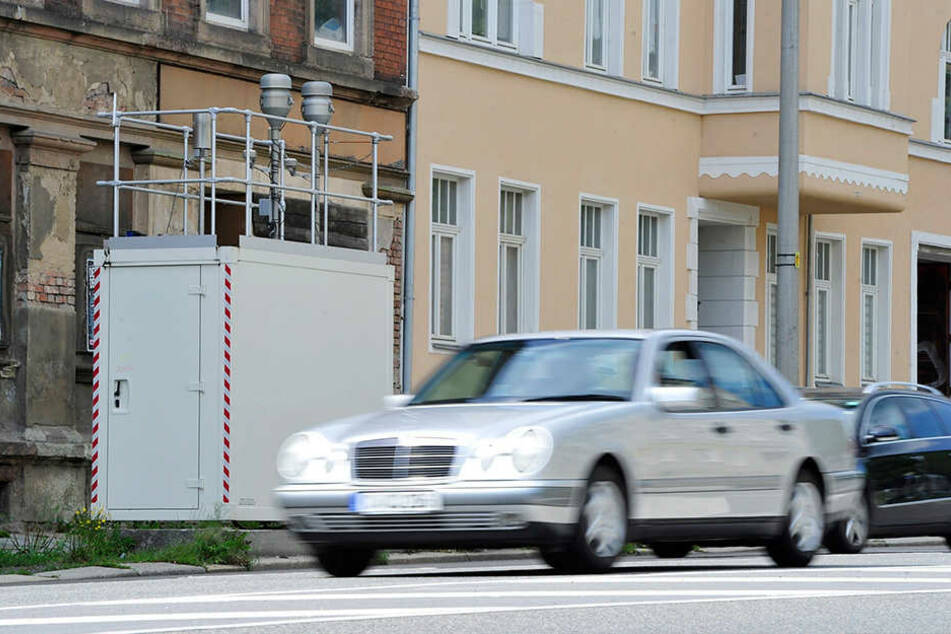 In Chemnitz wird unter anderem an der Leipziger Straße der Feinstaubwert gemessen.