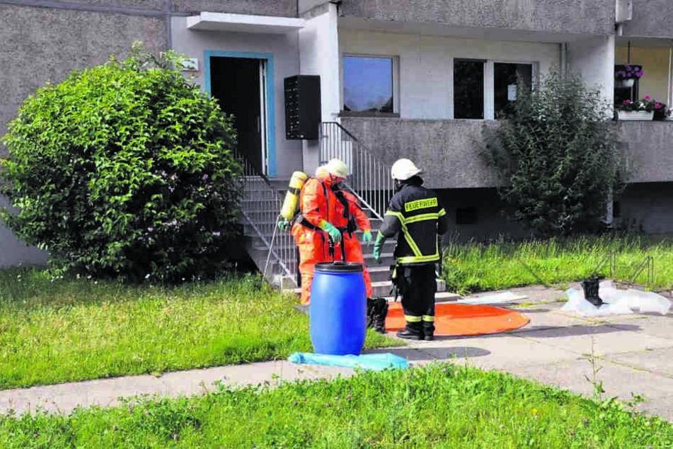 Giftalarm in der Platte! Wegen verkippten Quecksilbers gab es Donnerstag einen  Großeinsatz in Görlitz.