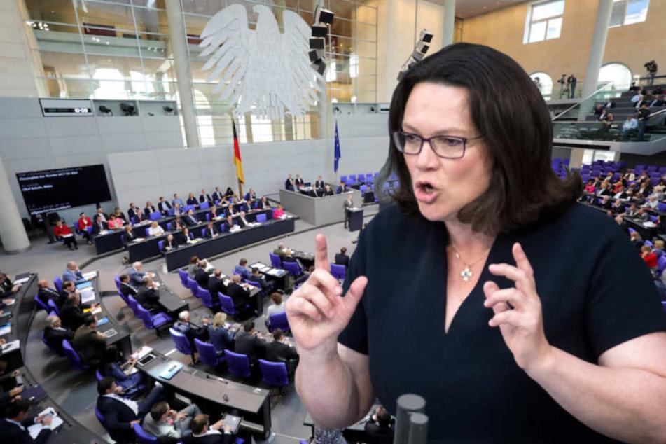 SPD-Chefin Andrea Nahles (48) verordnet ihren Genossen einen Schichtdienst.